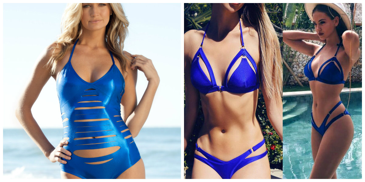moda praia 2019, trajes de banho azuis