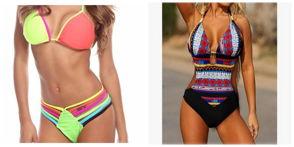 moda praia 2019, maios multicoloridas