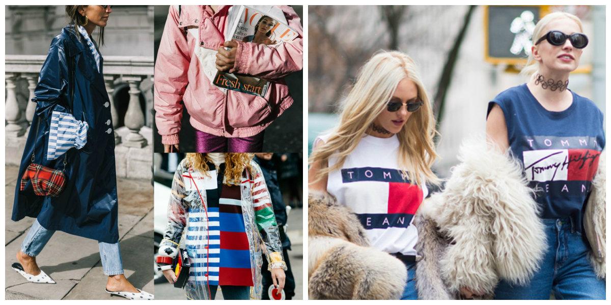 roupas femininas 2018, roupas com logos, impermeaveis