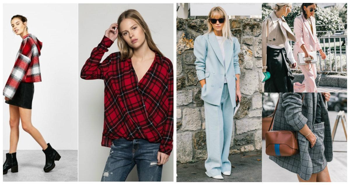 roupas femininas 2018, roupas estampadas de xadrez