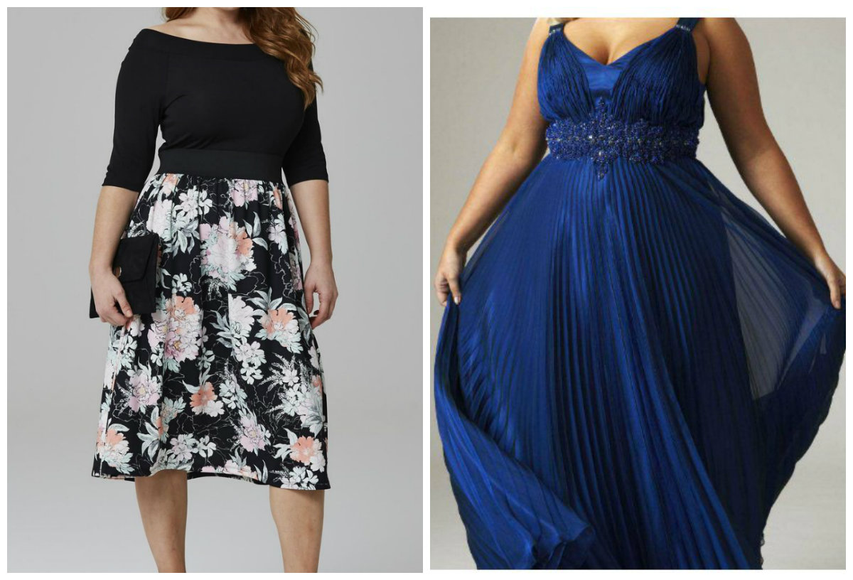 roupas plus size 2019, vestidos com estampa floral, azul