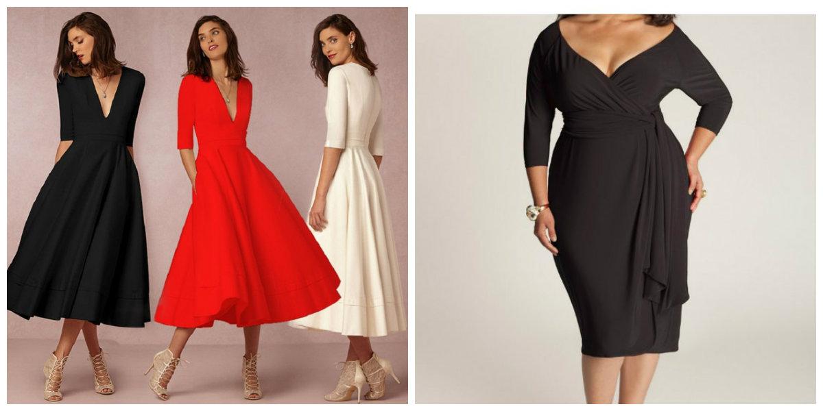 roupas plus size 2018, vestidos com decote