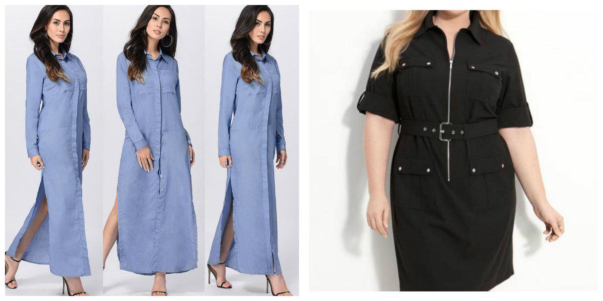 roupas plus size 2019, camisa vestido de jeans