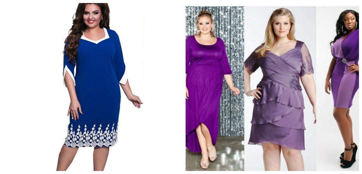 roupas plus size 2019 vestidos de cor lilas e azul
