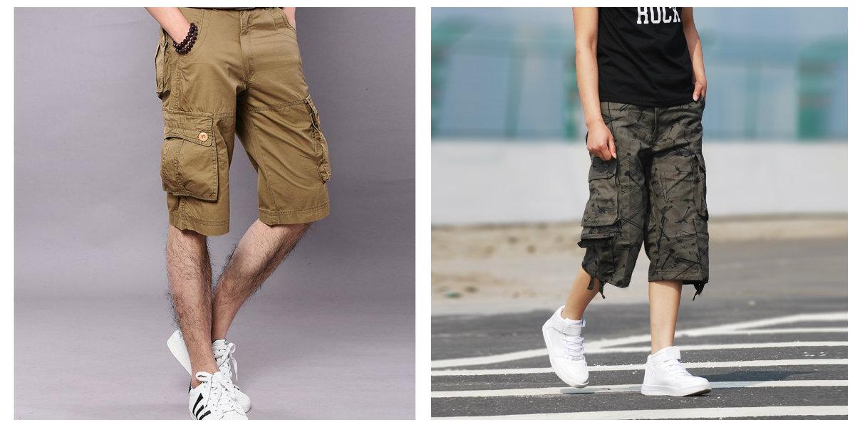 short masculino 2018, shorts de estilo militar