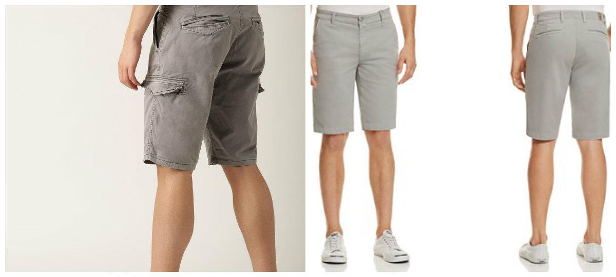 short masculino 2018, shorts cinza