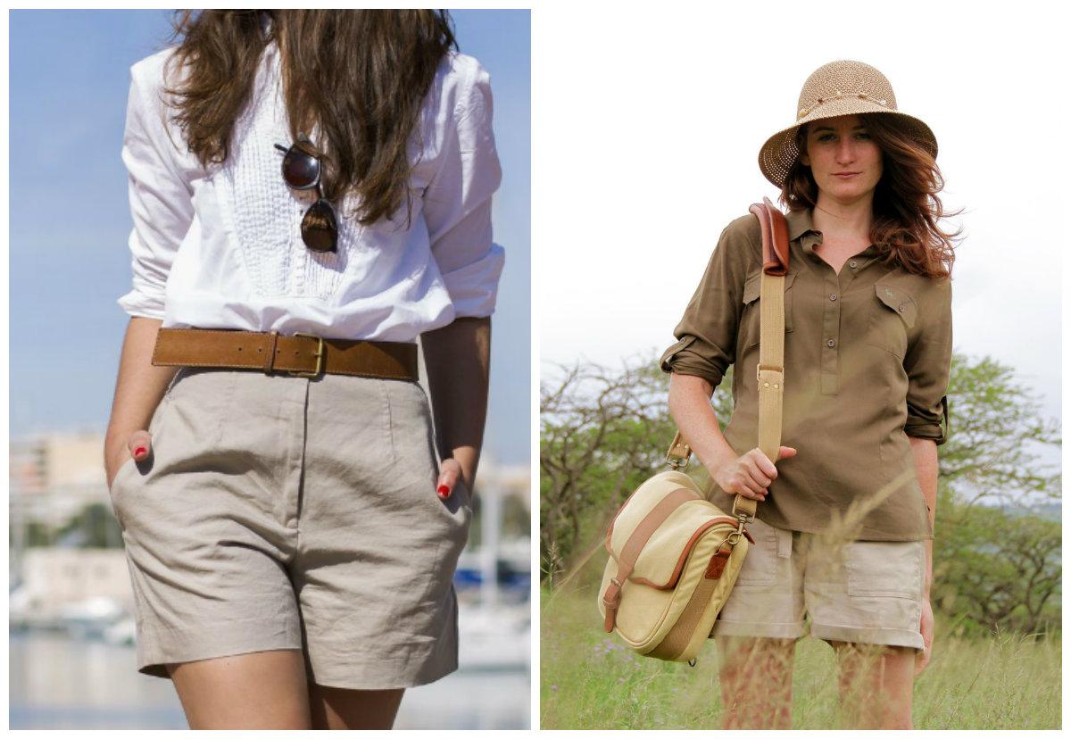 shorts feminino 2018, estilo safari