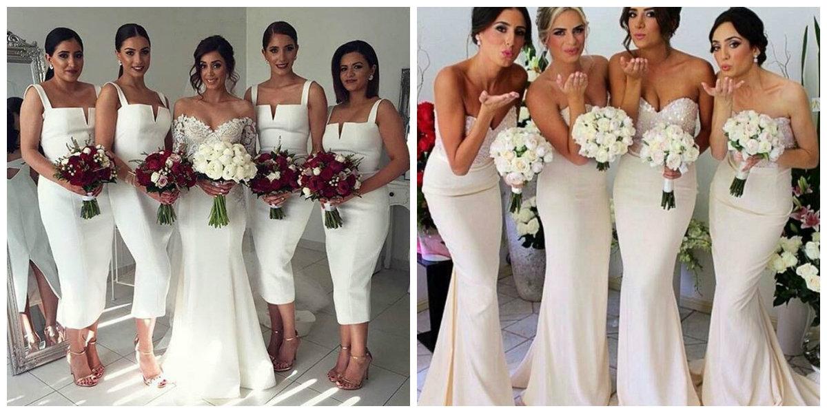 vestido de madrinha 2019, cor branca