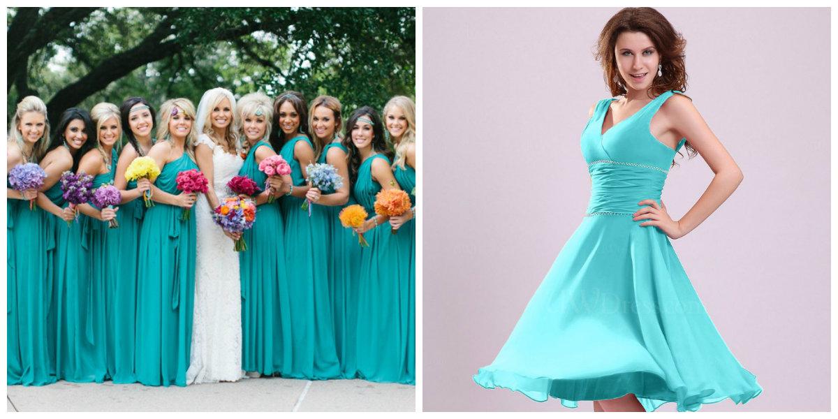 vestido de madrinha 2019, cor azul