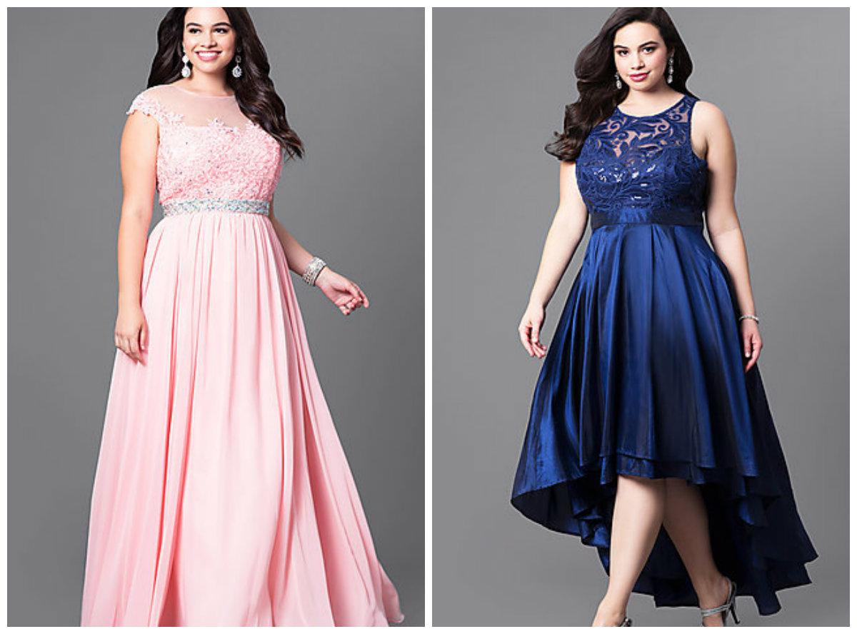 vestidos de festa plus size 2018, vestido longo de renda