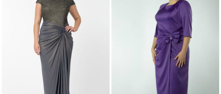 vestidos de festa plus size 2018, vestidos drapeados