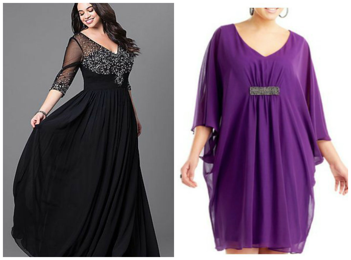 vestidos de festa plus size 2018, vestidos com decote