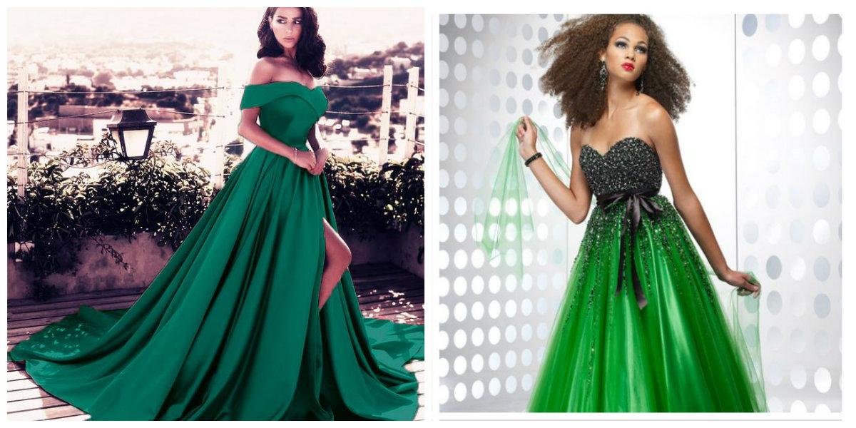 vestidos de formatura 2018, cor verde