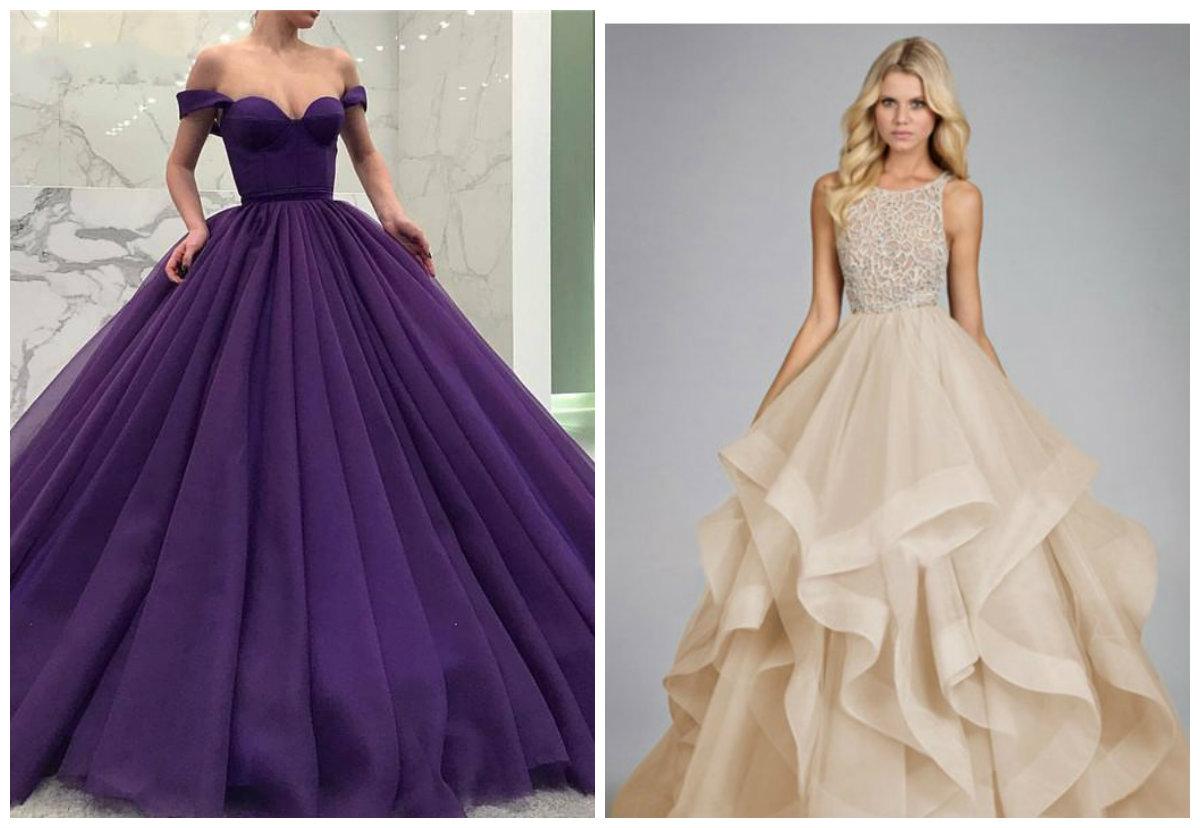 vestidos de formatura 2018, vestido de cor violeta