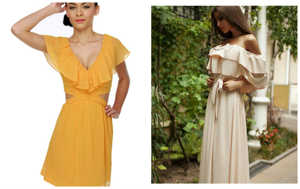 vestidos femininos 2019, vestidos com folhos