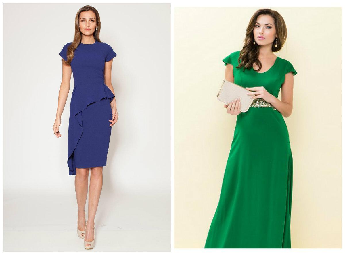 vestidos femininos 2019, vestidos de cor azul e verde