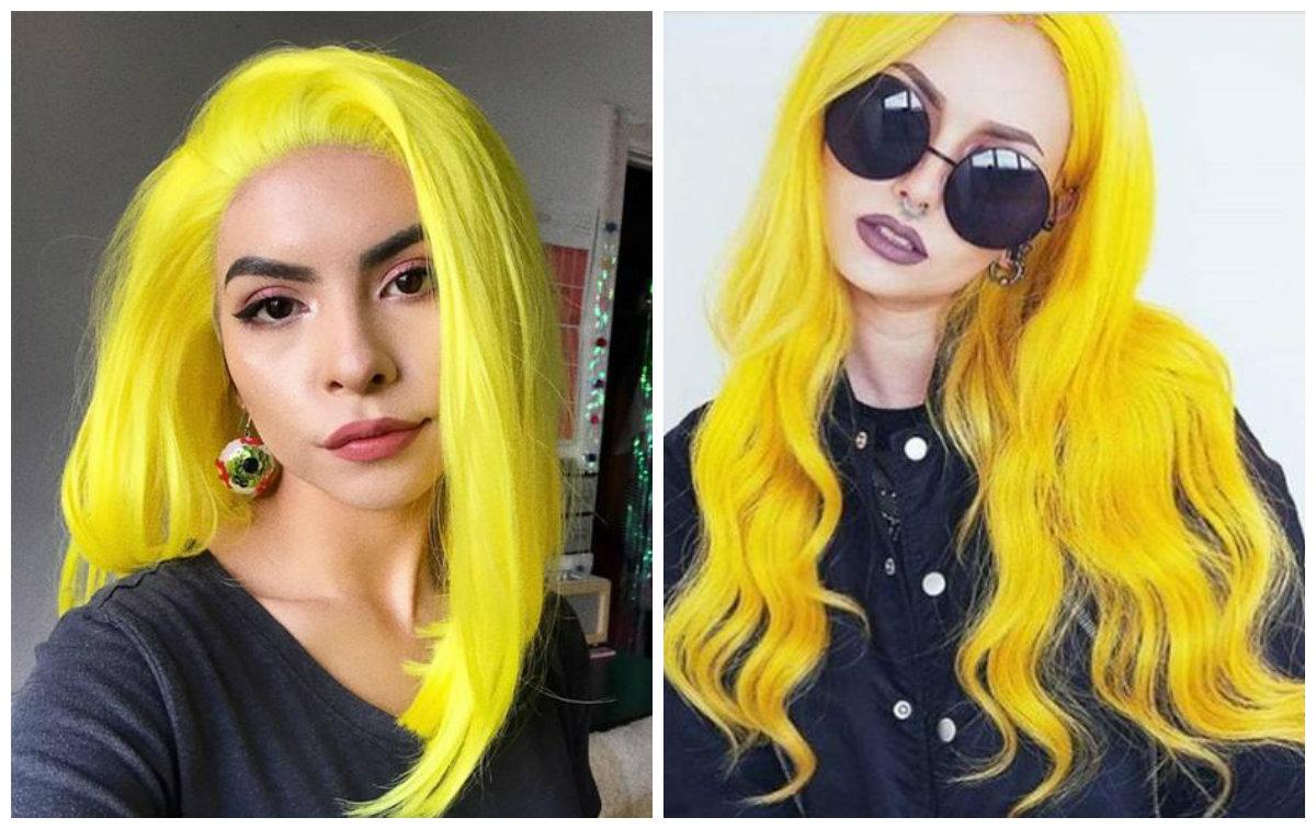 cabelo amarelo, cor de cabelo ensolorado