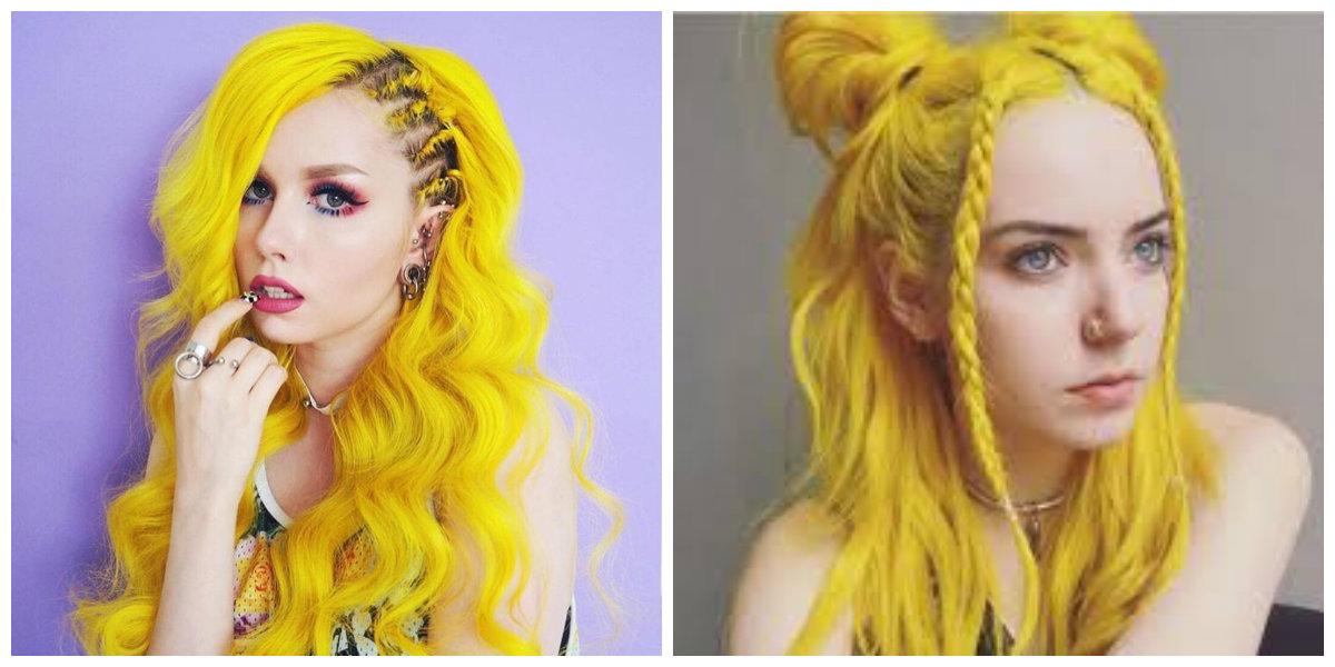 cabelo amarelo, tom de cabelo amarelo