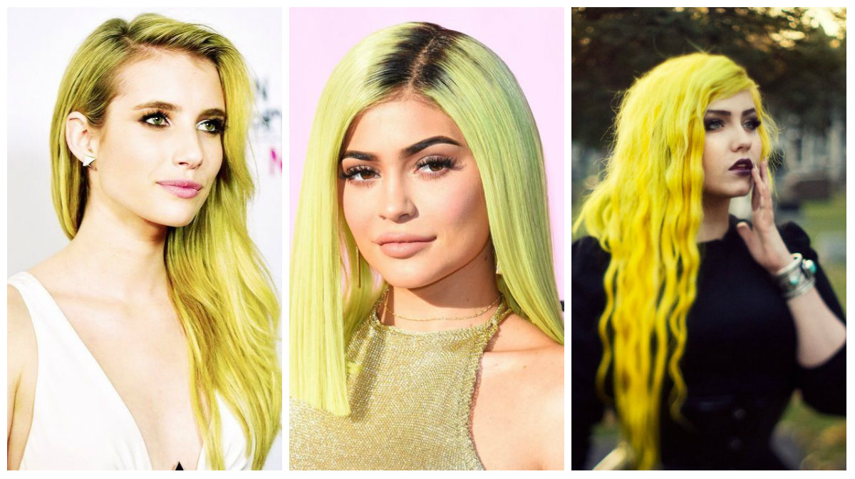 cabelo amarelo, cor de cabelo amarelo claro