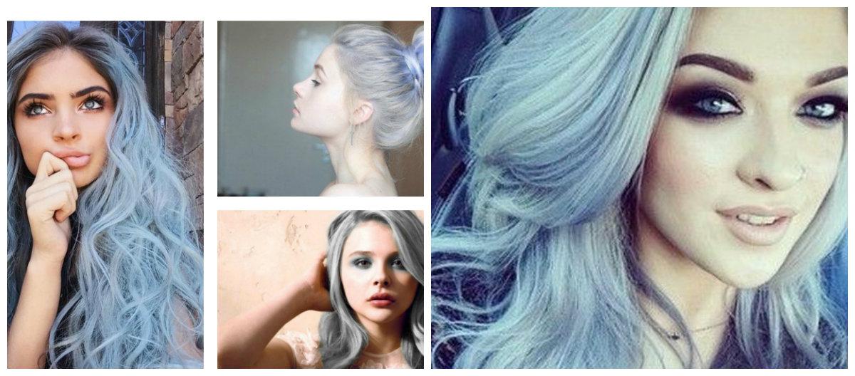 cabelo azul, cor de cabelo Ashen Azul