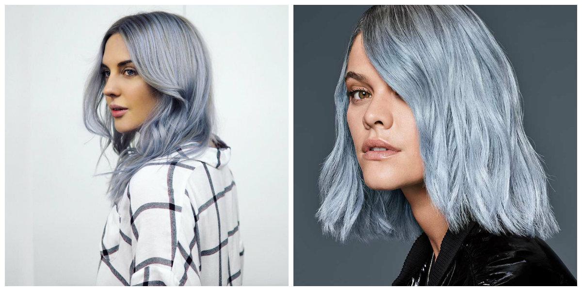 cabelo azul, cor de cableo azul pastel