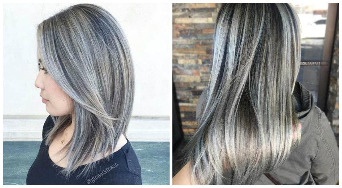 cabelo cinza, cinza profundo