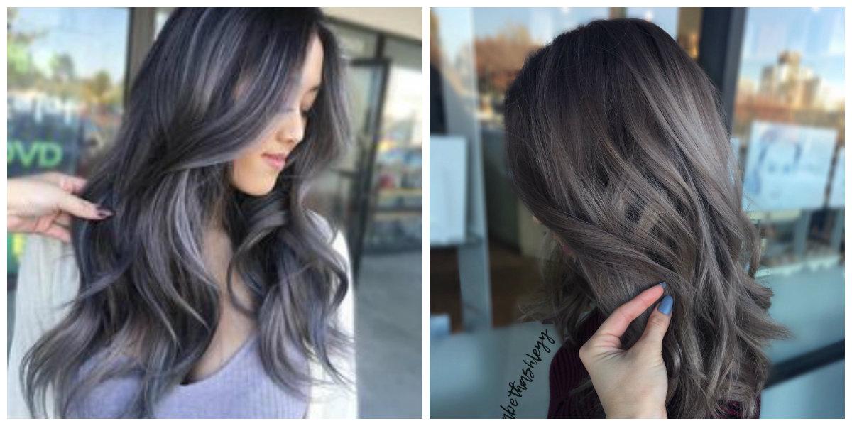 cabelo cinza, cor cinza