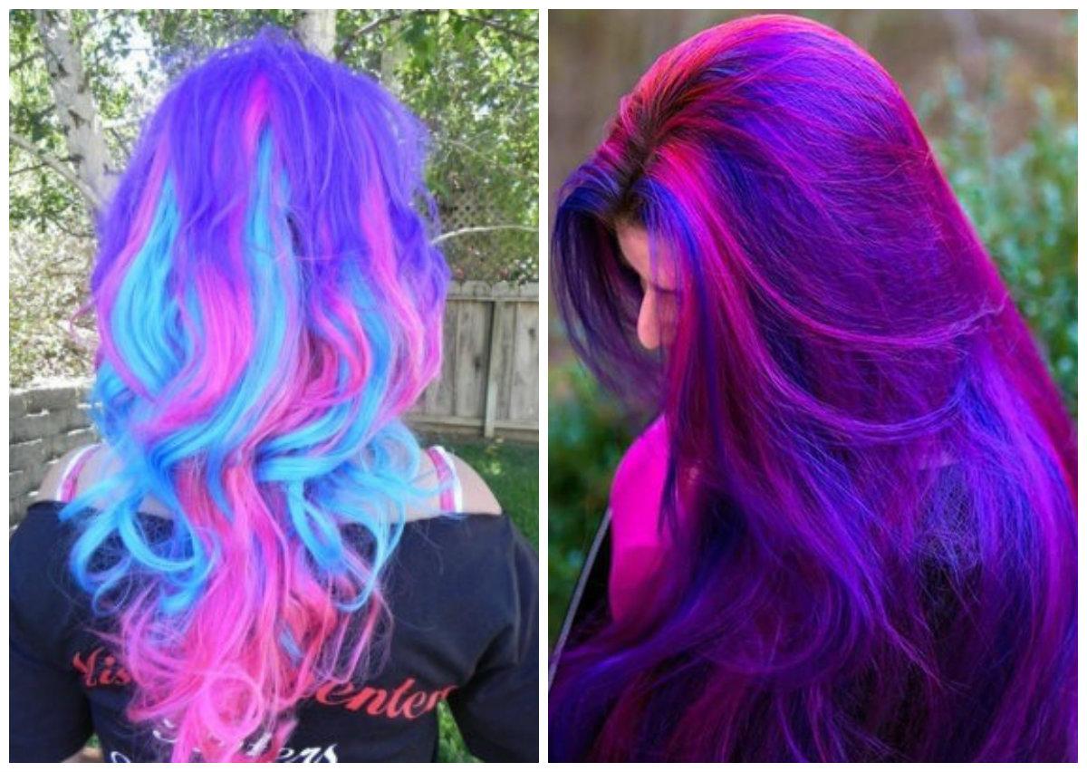 cabelo galaxia, cor de cabelo galaxico