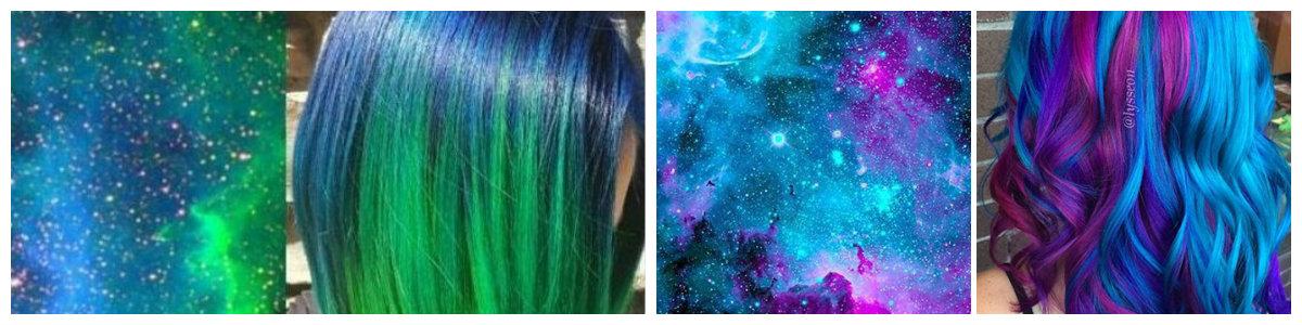 cabelo galaxia, cor de cabelo galaxia