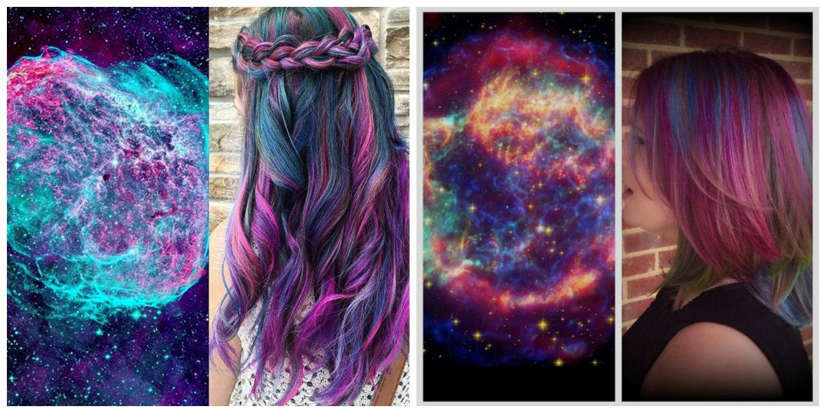 cabelo galaxia, cor de cabelo galactico