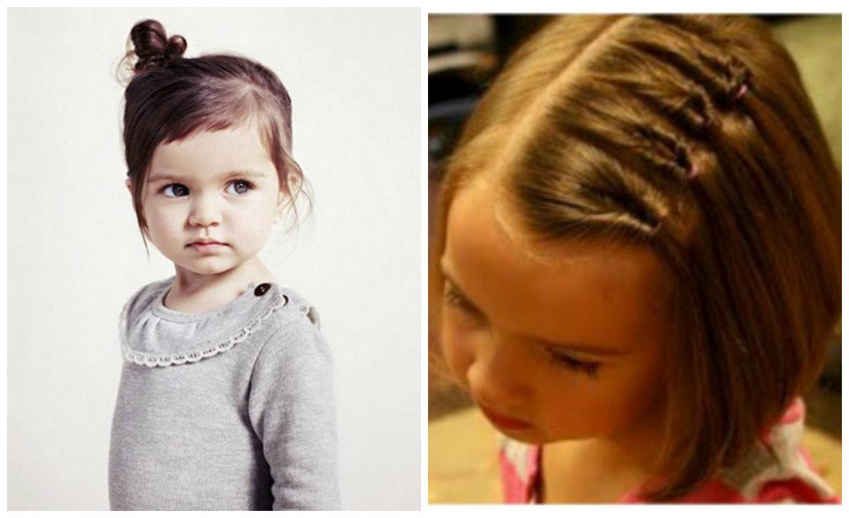 Penteados para crianças, penteados para cabelos medios de no