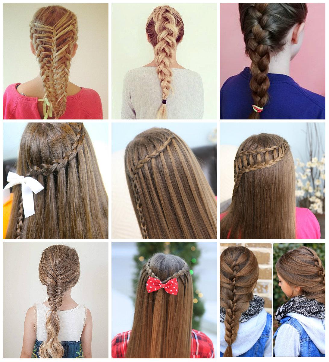 Penteados para crianças, variantes de trancas