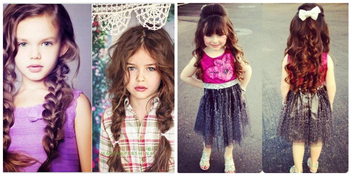 Penteados para crianças, penteados atuais para cabelo medio
