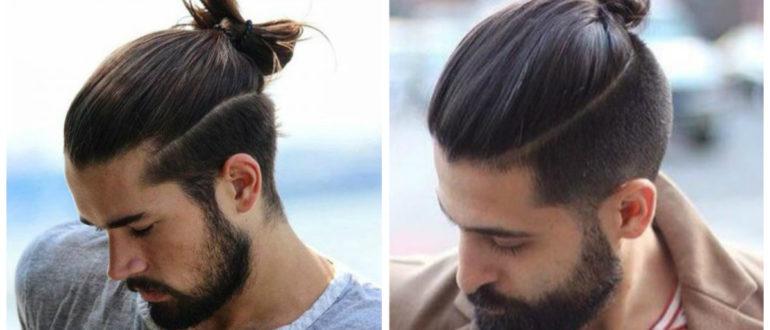 cabelo masculino grande, coque