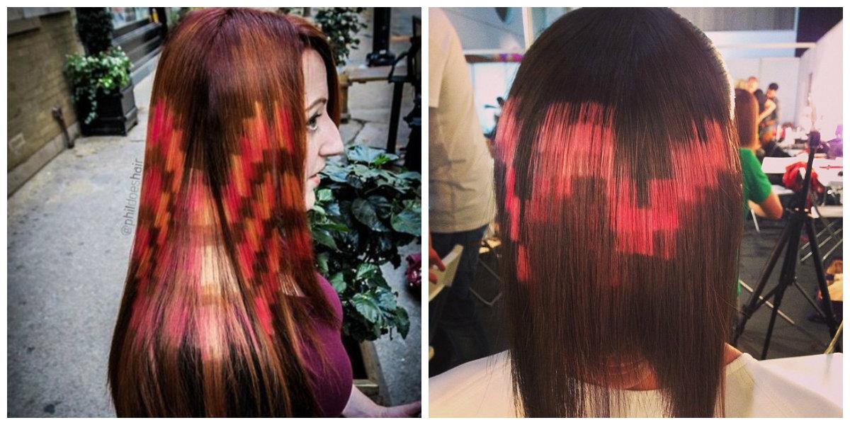 cabelo pixel, cor de cabelo pixel