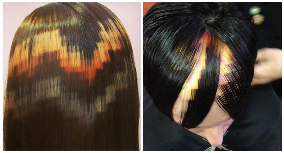 cabelo pixel, cor de cabelo laranja