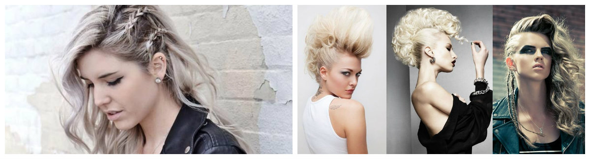 cabelo rock, quatro penteados rock