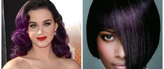 cabelo roxo escuro, cor moderno