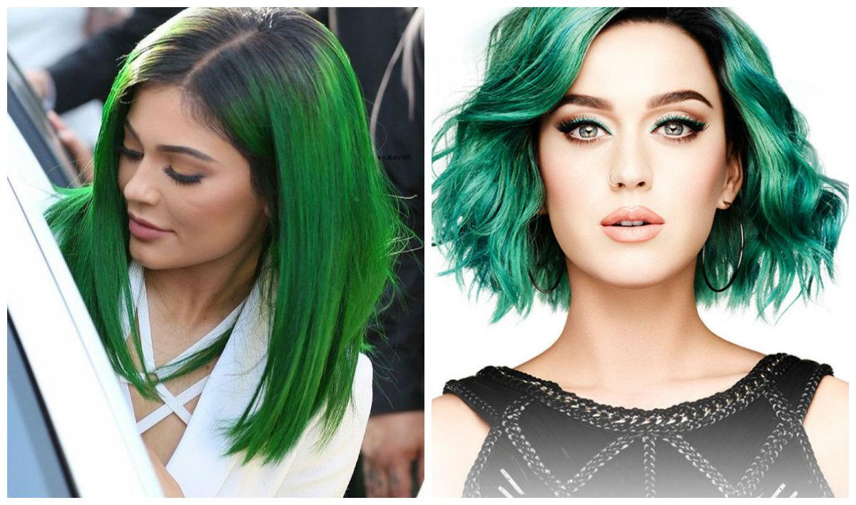 cabelo verde , cor de cabelo verde