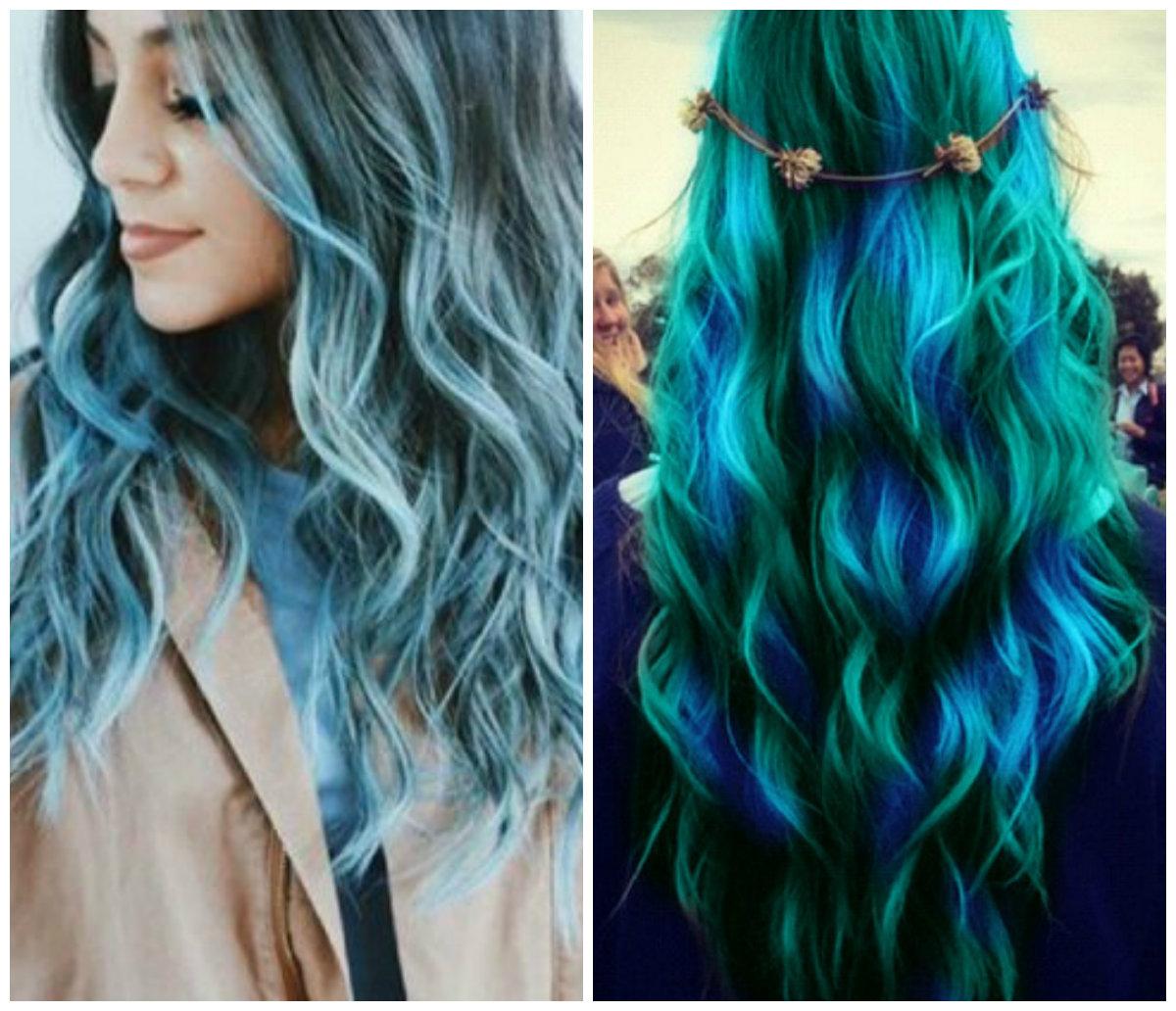 cabelo verde , cor de cabelo oceanico
