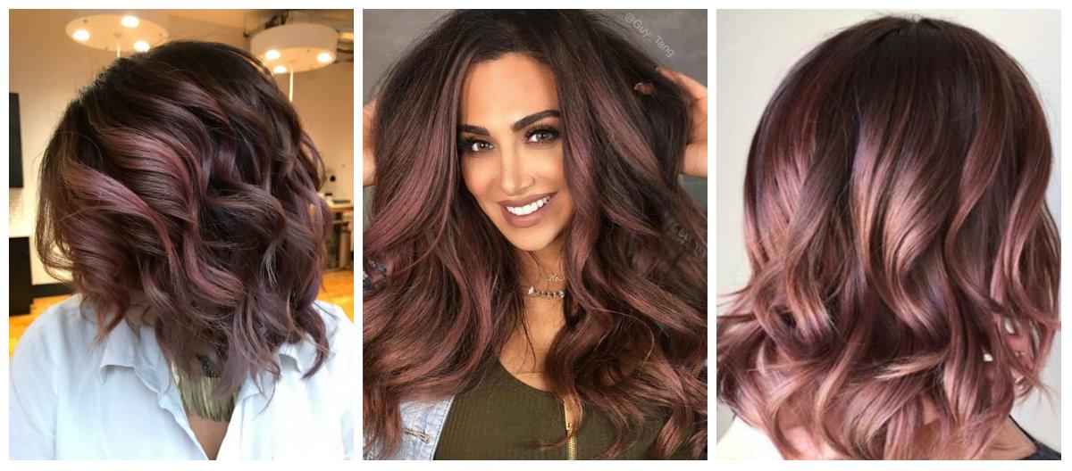 cor de cabelo chocolate, cor de cabelo chocolate malva escura