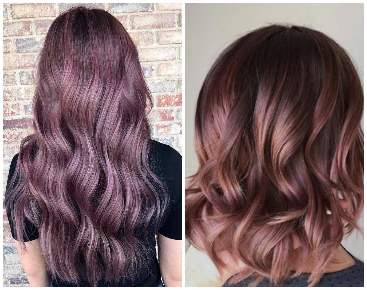cor de cabelo chocolate, cor de cabelo chocolate malva