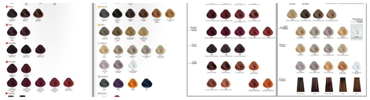 dicas de beleza de cabelo, tabela de cores