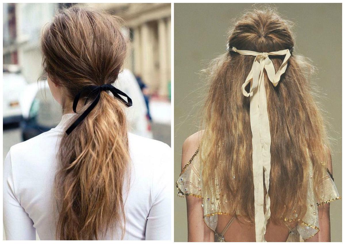 fita de cabelo, penteados atuais