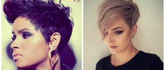 penteados curtos 2018, estilo umido