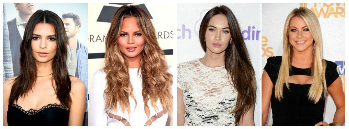 penteados longos, cabelo comprido, penteados modernos