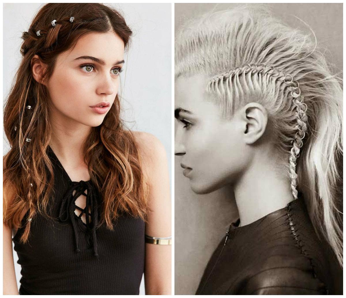 penteados longos, accesoris rock