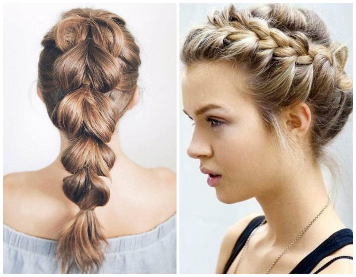 penteados para cabelos longos, penteado com trancas