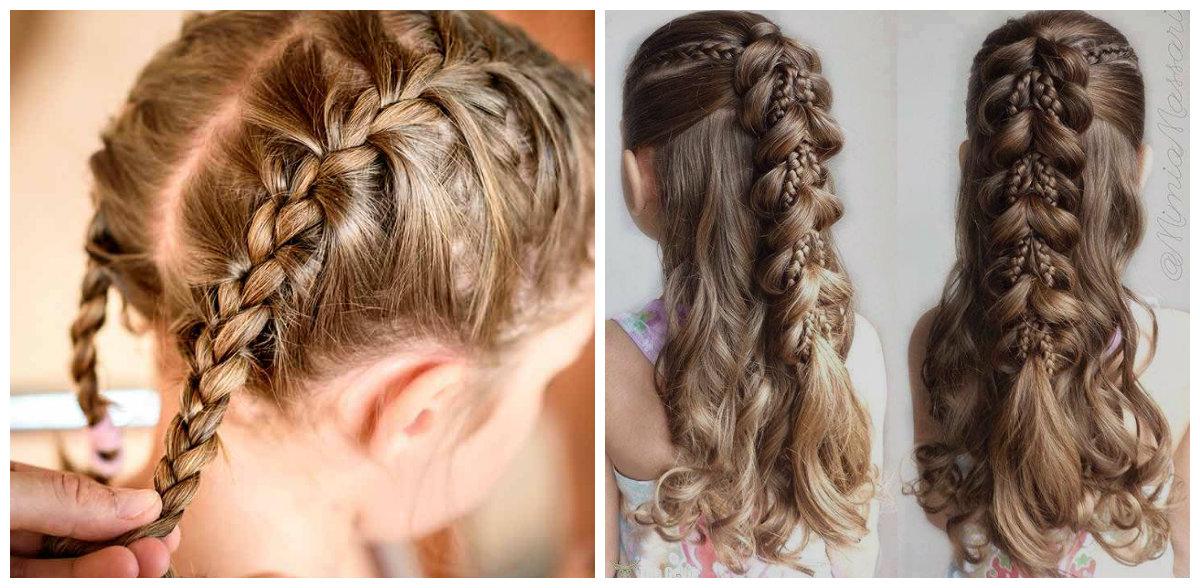 penteados para meninas, cabelo com trancas