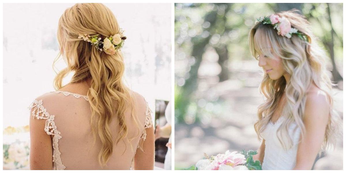 penteados para noivas, cabelo ondulado